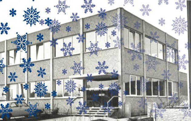 Gebäude-mit-Schneeflocken